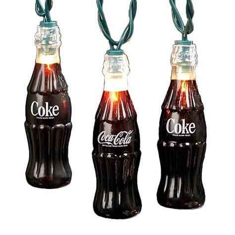 coca cola plastic coke bottle party lights set kurt s