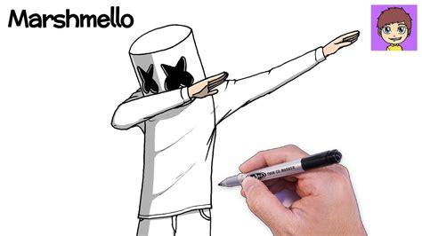 Como Dibujar a Marshmello Dabbing Paso a Paso Dibujos