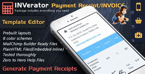 invoice template ecommerce email builder payment receipt