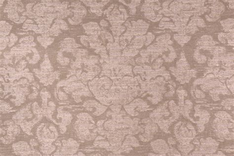 yards damask upholstery fabric  taupe