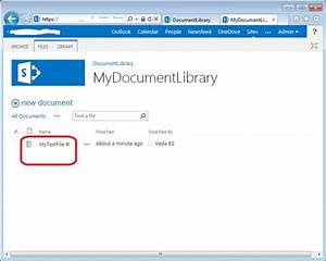 read a file in a document library in sharepoint 2013 using With document library url sharepoint