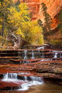 Arch Angel Falls Zion National Park Utah