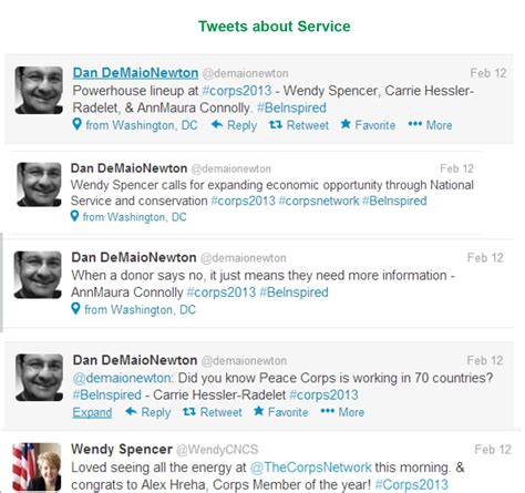 Tweets About The Corps Network 2013 National Conference