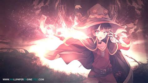 Wallpaper Anime Free - megumin anime 1080p 60fps wallpaper engine