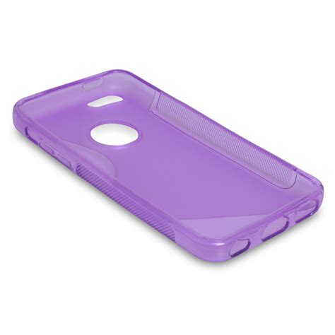 iphone 5c silicone caseflex iphone 5c silicone gel s line purple