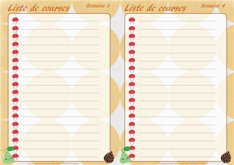Planning Des Menus Mensuels De Novembre à Imprimer