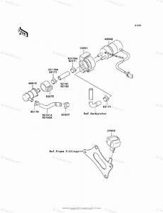 Kawasaki Motorcycle 2007 Oem Parts Diagram For Fuel Pump
