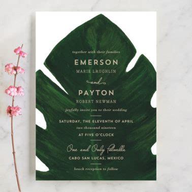 destination wedding invitations wording blue sky ceremony