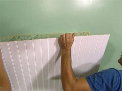 How To Cut Beadboard : How To Install Beadboard Wainscoting