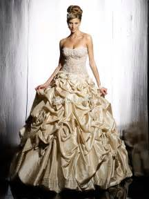 gold wedding dresses top ten wedding dress style in 2013 gold wedding inspiration trends
