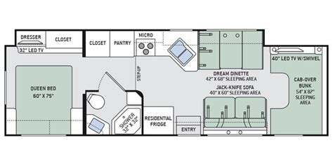 Thor Class C Rv Floor Plans specs for 2016 thor motor coach chateau 31w rvs