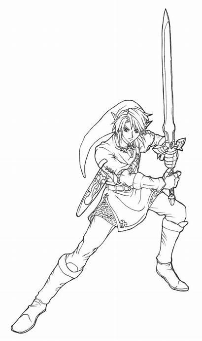 Zelda Link Princess Twilight Coloriage Coloring Legend