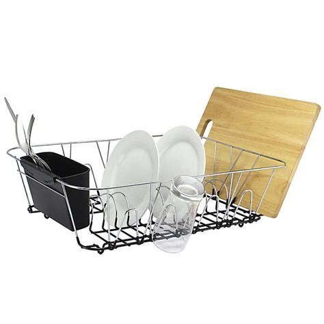 org large dish rack  chrome bed bath