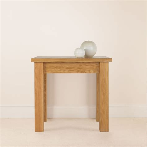 quercus solid oak tall side table  tempo furniture