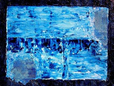 modern blue painting modern abstract blue water painting painting by