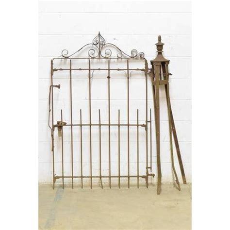wrought iron garden gate post