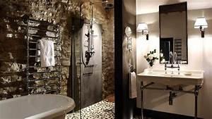 salle de bain pierre une elegance naturelle et authentique With salle de bain design avec evier ancien en pierre naturelle