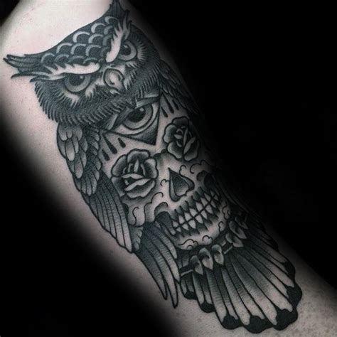 traditional owl tattoo designs  men wise ink ideas