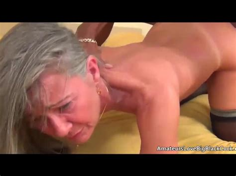 Grey Haired Granny Enjoys Big Black Cock Free Porn