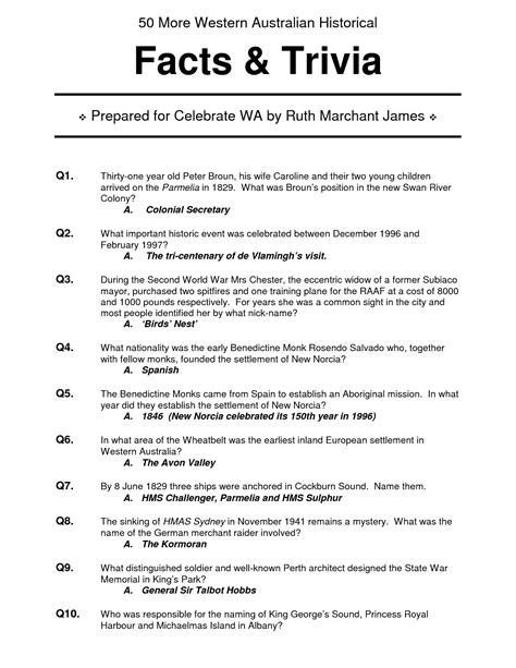 28 best trivia questions printable quiz 10000