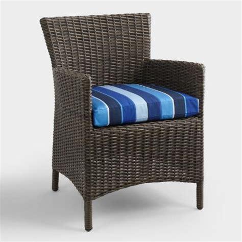 sunbrella cobalt blue gusseted outdoor chair