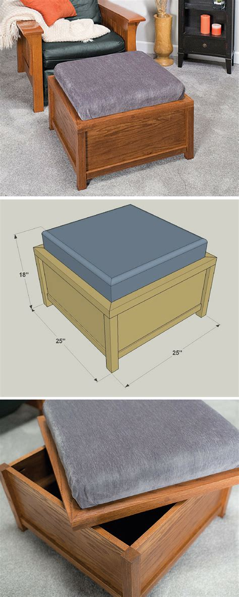 How To Build An Ottoman Frame by How To Build A Diy Storage Ottoman Free Printable
