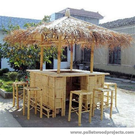 wooden patio bar ideas recycled pallet tiki bar ideas pallet wood projects