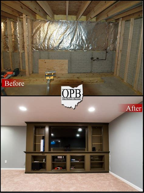 beforeafter basement remodel ohio property brothers