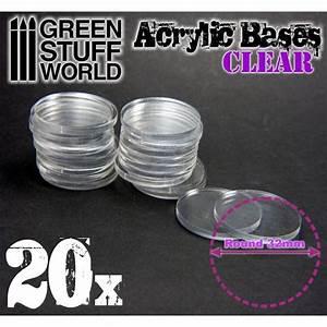 Acrylic, Bases, Transparent, Color