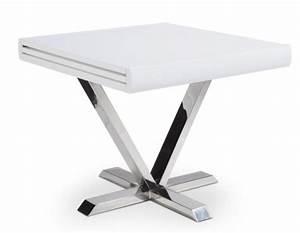 Table Carre Extensible : table carr e extensible blanche selena 90 180 cm ~ Teatrodelosmanantiales.com Idées de Décoration