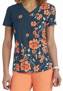 The exquisite Sweet Nouveau print scrub top from the ...