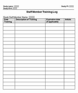 best photos of training log template employee training With training record template in excel