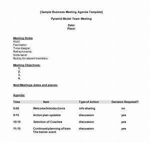 free business meeting agenda template business meeting With download using documents 5