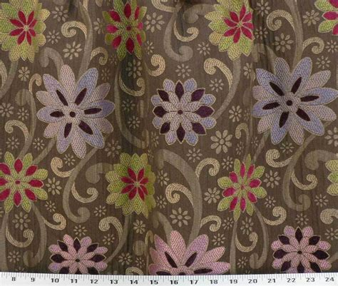 vintage upholstery fabric drapery upholstery fabric woven rouched retro chenille