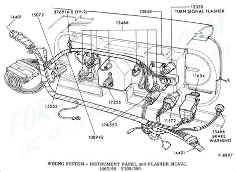 1965 Ford Truck Wiring by 1965 F100 Wiring Diagram Ford Truck Technical Drawings And