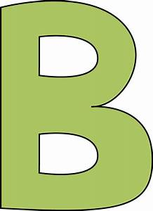 Green Letter B Clip Art - Green Letter B Image