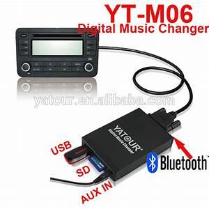 Car Radio Cd Player Digital Music Changer Mp3 Aux Connect