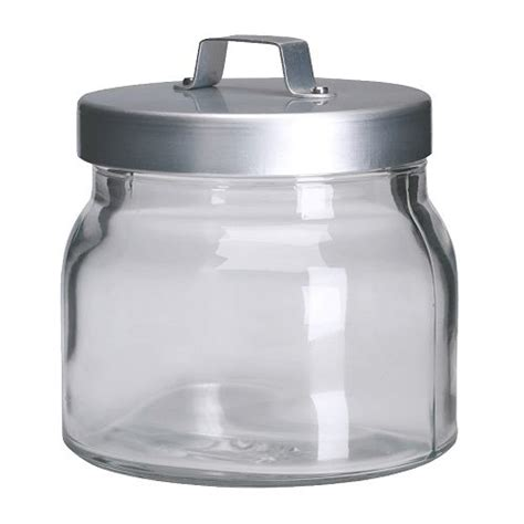 clear glass kitchen canisters burken jar with lid 17 oz ikea
