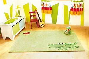 tapis pour chambre enfant vert happy zoo crocodile 1 sigikid With tapis de chambre garcon