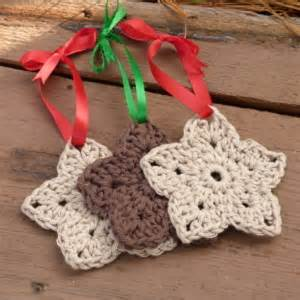 rustic star ornament free crochet pattern
