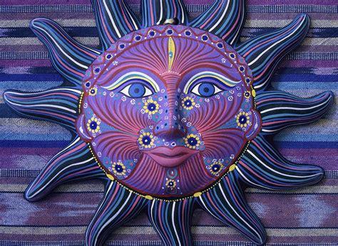 Mexico Sun Face Fantasy Still Life - Blue Sun Face by ...