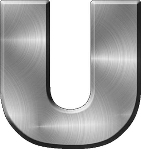 presentation alphabets brushed metal letter a presentation alphabets brushed metal letter u 31331