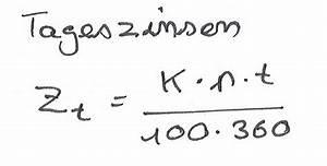 Zinsen Berechnen Tage : tageszinsen berechnen diskont ~ Themetempest.com Abrechnung