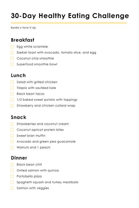 #thebyrdie30 Your 30day Healthy Eating Challenge Byrdie