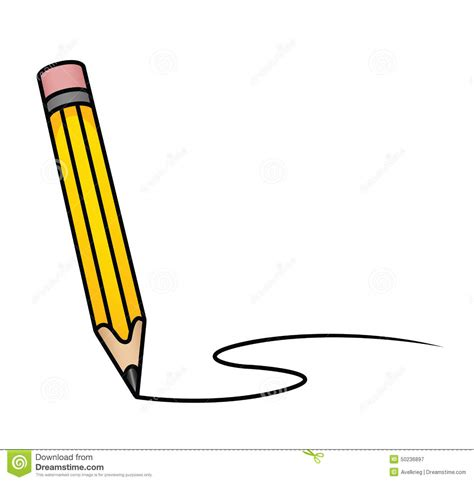cartoon pencil stock vector image