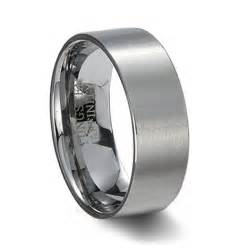 mens tungsten carbide wedding rings mens brushed tungsten carbide pipe cut wedding band