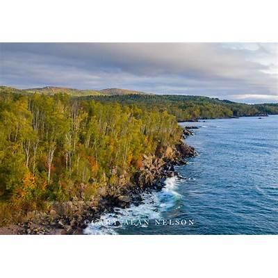 Aspens and Sawtooth Mountains : Lake Superior Minnesota