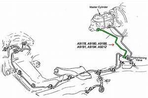 Corvette Brake Line  Brake Master Cylinder To Proportioningvalve  Front  With Power Brakes  1969