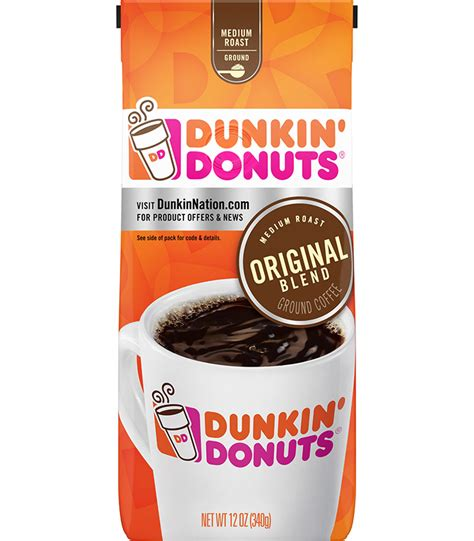 We all know that america runs on dunkin' donuts. Dunkin Donuts Original Ground Coffee 340g (12oz)   American Food Mart