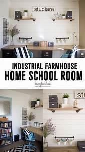 Industrial Farmhouse Home School Room - Honeybear Lane